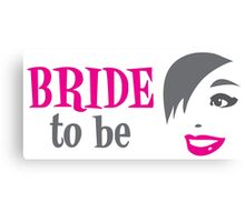 Bride to be with pretty happy lady smiling Canvas Print