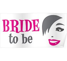 Bride to be with pretty happy lady smiling Poster