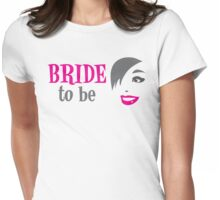 Bride to be with pretty happy lady smiling Womens Fitted T-Shirt