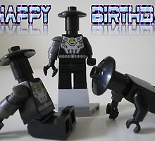 Happy Birthday Greeting Card of Custom Cyber Droid Shadow Soldier by Customize My Minifig