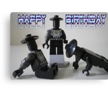 Happy Birthday Greeting Card of Custom Cyber Droid Shadow Soldier Canvas Print