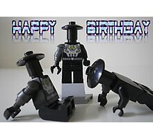 Happy Birthday Greeting Card of Custom Cyber Droid Shadow Soldier Photographic Print
