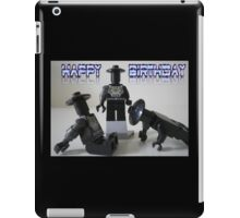 Happy Birthday Greeting Card of Custom Cyber Droid Shadow Soldier iPad Case/Skin