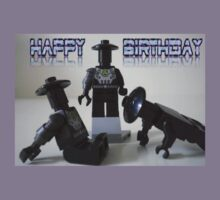 Happy Birthday Greeting Card of Custom Cyber Droid Shadow Soldier Kids Clothes