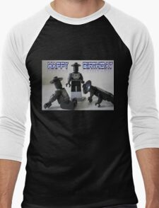 Happy Birthday Greeting Card of Custom Cyber Droid Shadow Soldier Men's Baseball ¾ T-Shirt