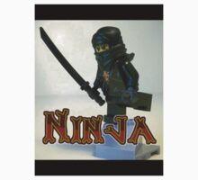 Black Ninja Custom Minifigure Baby Tee