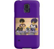 Happy Birthday Greeting Card DJ Clubbing Tru & his Dad Disco Stu (with CD and Record) Minifigs Samsung Galaxy Case/Skin