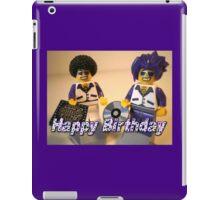 Happy Birthday Greeting Card DJ Clubbing Tru & his Dad Disco Stu (with CD and Record) Minifigs iPad Case/Skin