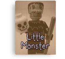 Little Monster Frankensteins Monster Custom Minifig Canvas Print
