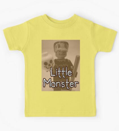 Little Monster Frankensteins Monster Custom Minifig Kids Tee