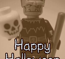 Happy Halloween Frankenstein's Monster Custom Minifig by Customize My Minifig