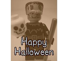 Happy Halloween Frankenstein's Monster Custom Minifig Photographic Print