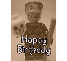 Happy Birthday Frankensteins Monster Custom Minifig Photographic Print