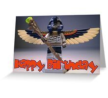 Flying Mummy Minifigure with Wings & Custom Magical Staff Greeting Card