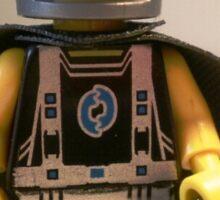 Captain Vortex in Black & Silver Costume and Cape Sticker