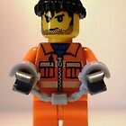City Convict Prisoner Minifig Minifigure with Handcuffs, 'Customize My Minifig' by Chillee