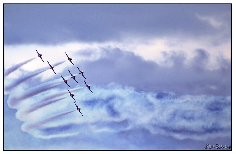 The Snowbirds practice 1 by Kim Brown