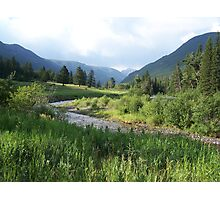 Mountainous river valley Photographic Print