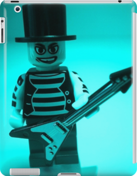Guitarist Custom Minifigure with Guitar by Customize My Minifig