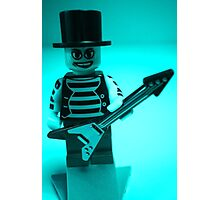 Guitarist Custom Minifigure with Guitar Photographic Print