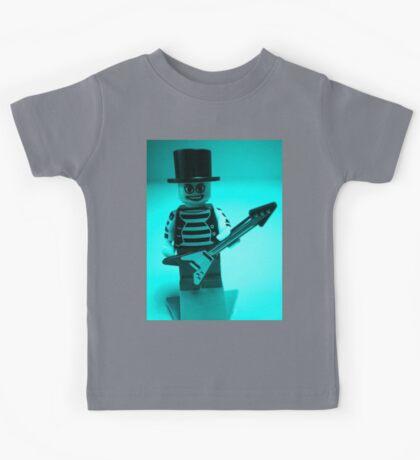 Guitarist Custom Minifigure with Guitar Kids Tee