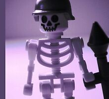 Skeleton Army Custom Minifigure Helmet & Bazooka by Customize My Minifig