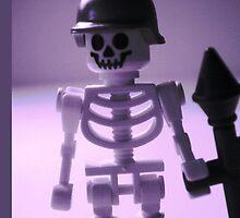 Skeleton Army Custom Minifigure Helmet & Bazooka by Customize My Minifig