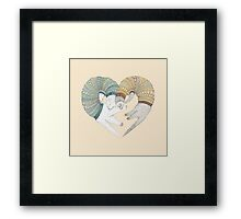 Love sleep Framed Print
