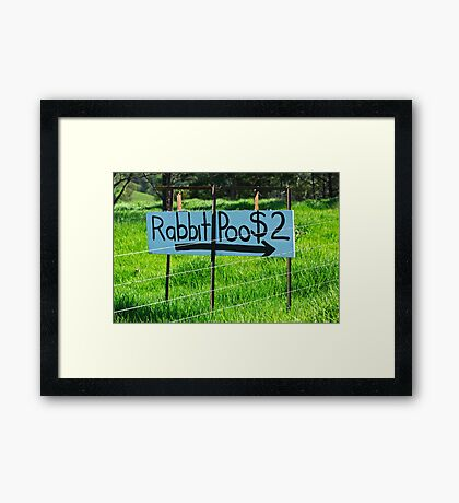 Rabbit Poo Framed Print