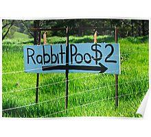 Rabbit Poo Poster