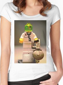 Doctor Toxic Custom Minifigure  Women's Fitted Scoop T-Shirt