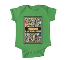 Good Luck on your First Day of School Greeting Card a Montage of Custom Minifigs One Piece - Short Sleeve