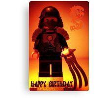 Happy Birthday Greeting Card TMNT Teenage Mutant Ninja Turtles Master Shredder Custom Minifig Canvas Print