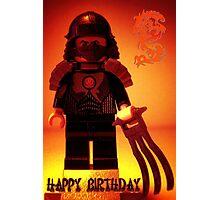 Happy Birthday Greeting Card TMNT Teenage Mutant Ninja Turtles Master Shredder Custom Minifig Photographic Print