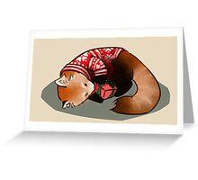 Red Panda X-mas Greeting Card