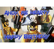"""Happy Birthday"" Pirate Captain Birthday Greeting Card Photographic Print"