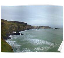 Cliffs on the Northern Irish Coast Poster