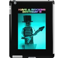 """Have a Rocking Birthday"" Custom Emo Guitarist Birthday Greeting Card iPad Case/Skin"