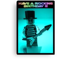 """Have a Rocking Birthday"" Custom Emo Guitarist Birthday Greeting Card Canvas Print"