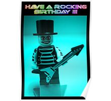 """Have a Rocking Birthday"" Custom Emo Guitarist Birthday Greeting Card Poster"