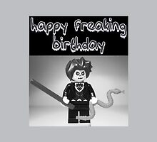 """Happy Freaking Birthday"" Custom Evil Magician Birthday Greeting Card by Customize My Minifig"