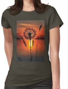 Coucher de soleil Womens Fitted T-Shirt
