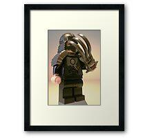 TMNT Teenage Mutant Ninja Turtles Master Shredder Custom Minifig Framed Print