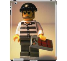 Convict Prisoner City Minifigure with Dynamite Tile iPad Case/Skin