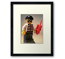 Convict Prisoner City Minifigure with Dynamite Sticks Framed Print