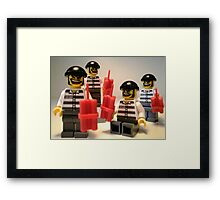 Convict Prisoner City Minifigure with Dynamite Sticks Framed Print