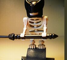 Egyptian God Anubis Skeleton Statue Custom Minifig by Chillee