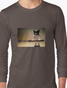 Egyptian God Anubis Skeleton Statue Custom Minifig Long Sleeve T-Shirt