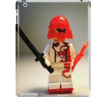 Red Dragon Japanese Samurai Warrior Custom Minifig iPad Case/Skin