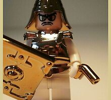 'The Golden Man' Super Villian Custom Minifig by Chillee